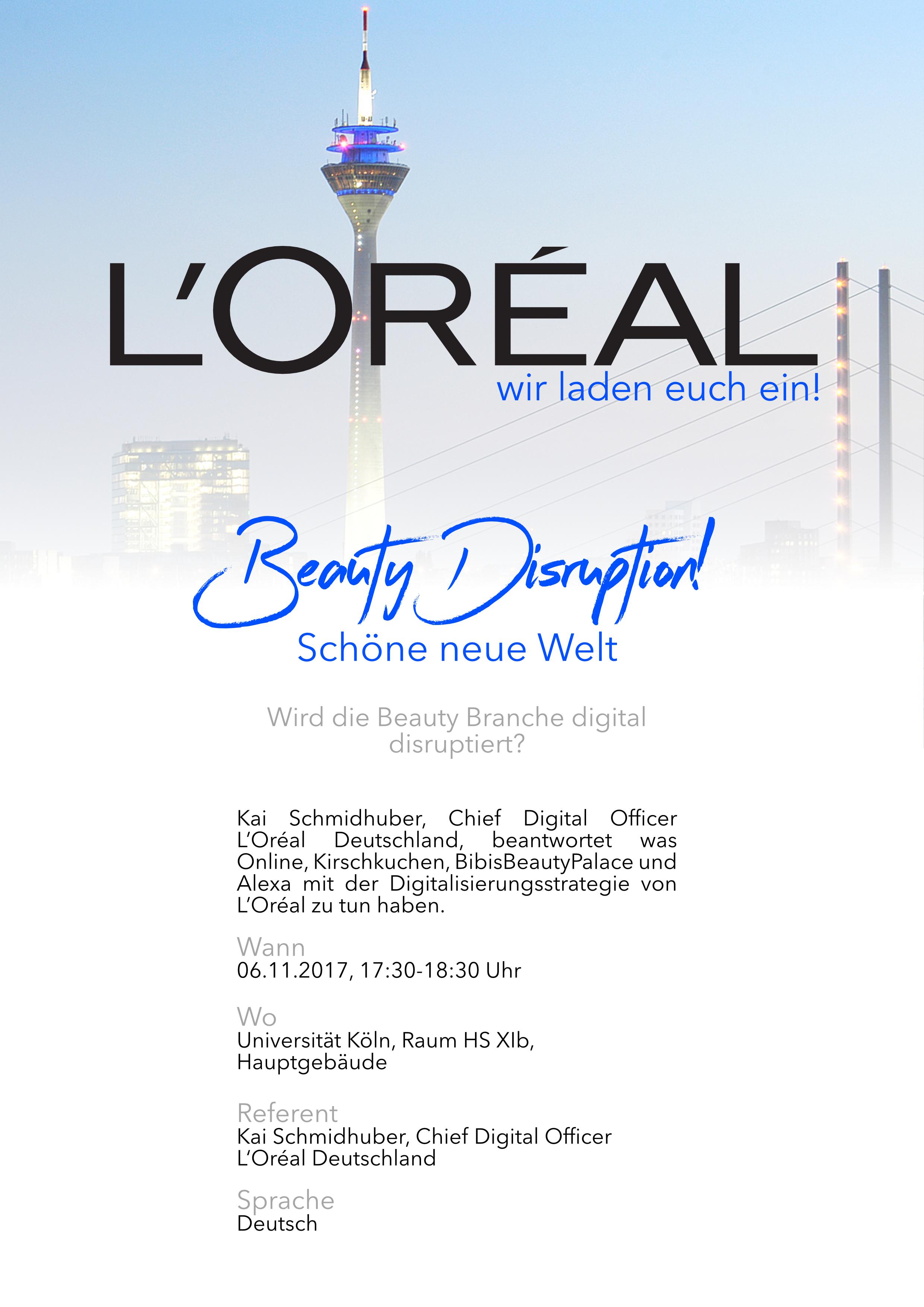 Lu0027Oréal Lädt Zum Vortrag   Wird Die Beauty Branche Digital Disruptiert?